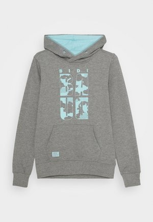 LAMIN LIFESTYLE HOODY UNISEX - Jersey con capucha - grey/aqua