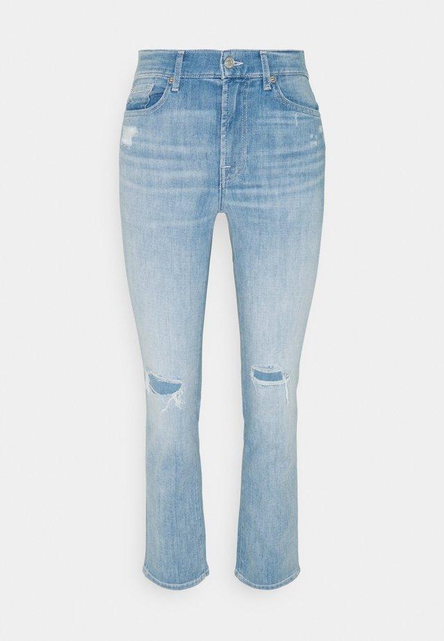 THE CROP  - Straight leg jeans - light blue