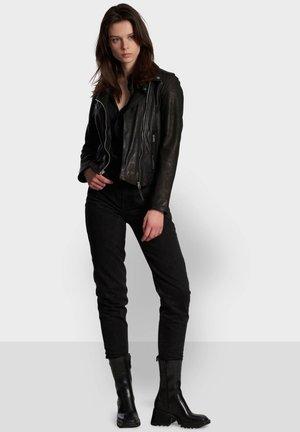 CLIPS - Læderjakker - black