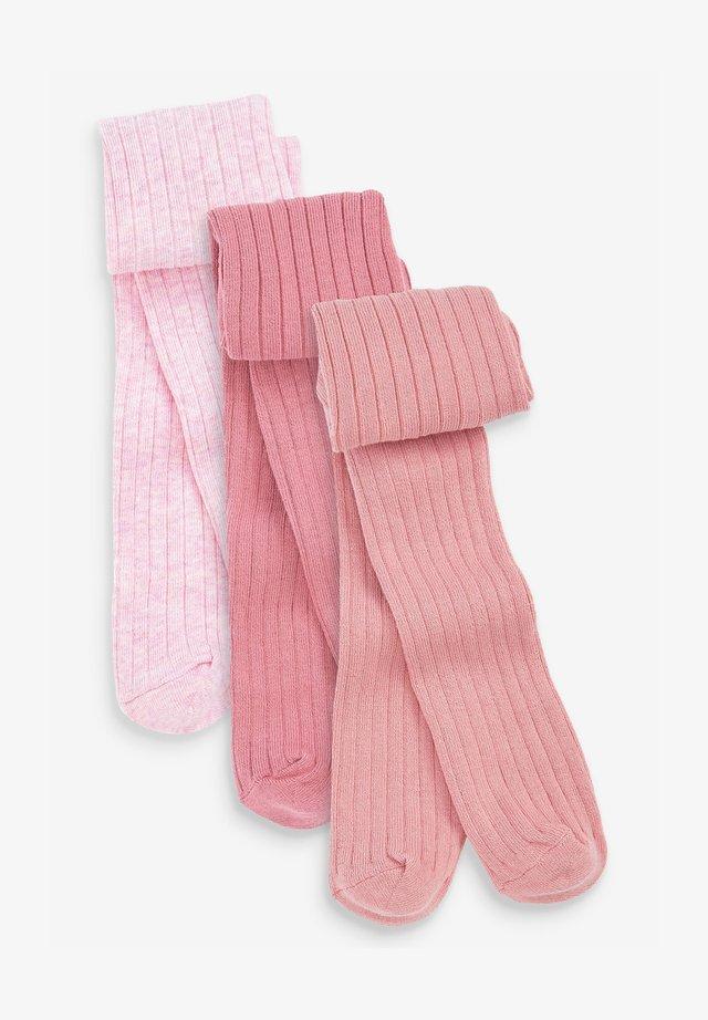 3 PACK - Strumpfhose - pink