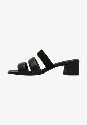 Heeled mules - black
