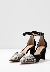 PERLATO - Classic heels - grigio/noir - 4