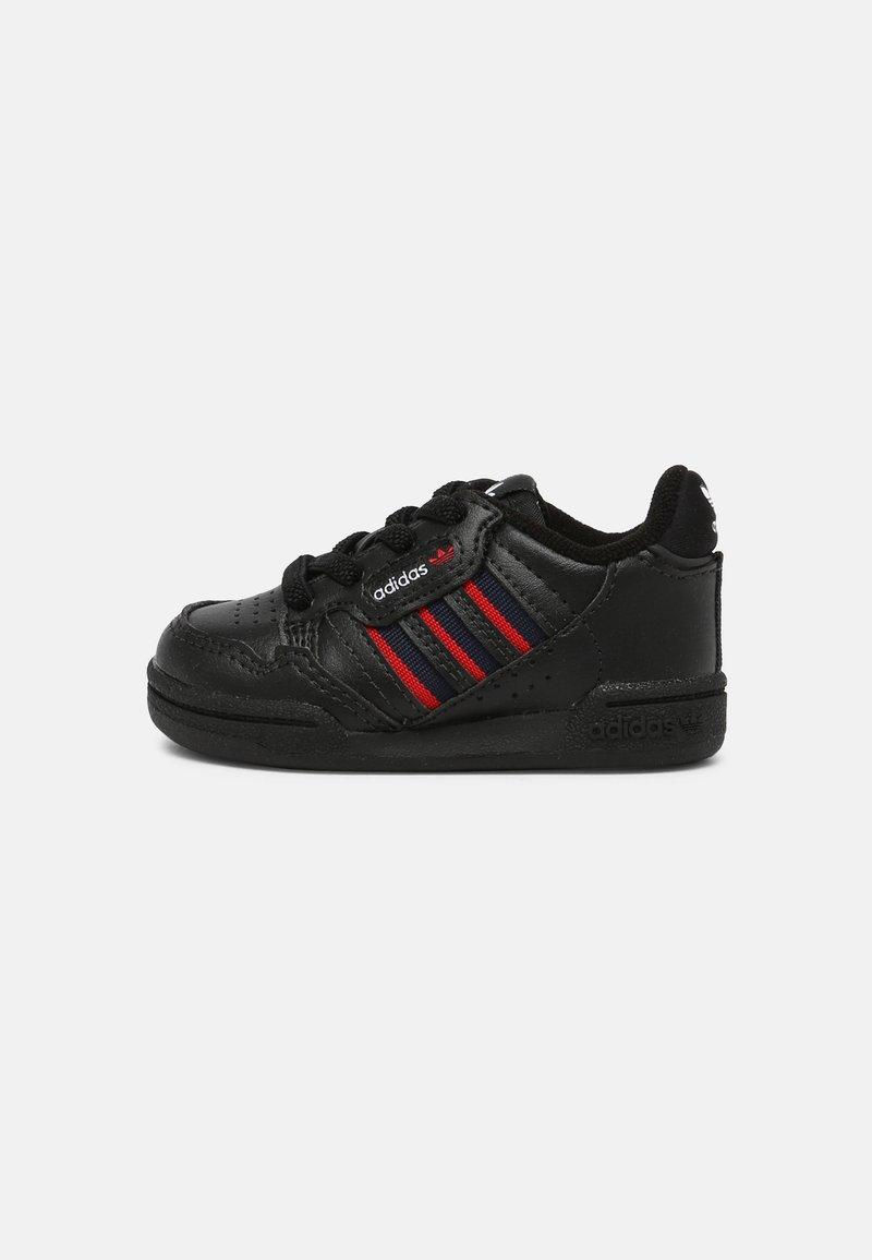 adidas Originals - CONTINENTAL 80 STRIPES UNISEX - Sneakersy niskie - core black/collegiate navy/vivid red