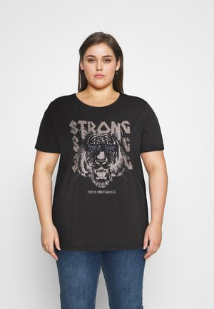 CAREMILY TEE - Print T-shirt - black