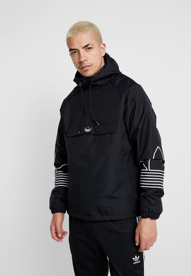 adidas Originals - OUTLINE - Cortaviento - black