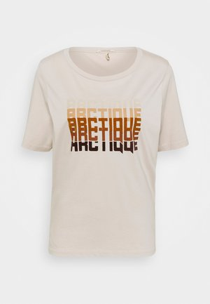 TEE WITH ARTWORK - Print T-shirt - beige