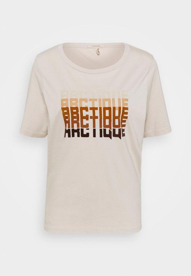 TEE WITH ARTWORK - Print T-shirt - beige