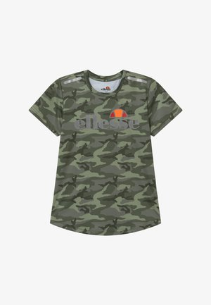 SANDON PERFORMANCE TEE - Print T-shirt - khaki