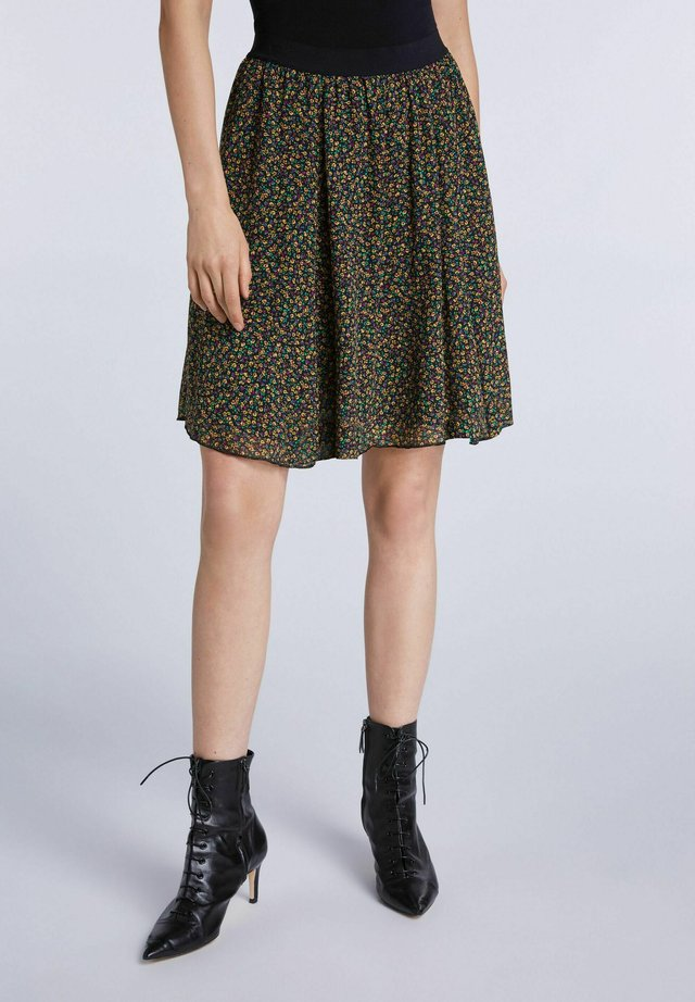 Jupe trapèze - black green