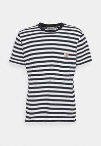 SCOTTY POCKET - Print T-shirt - dark navy/white