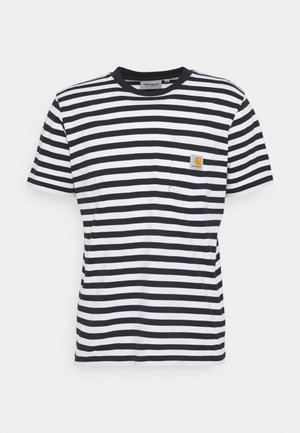 SCOTTY POCKET - T-shirt con stampa - dark navy/white