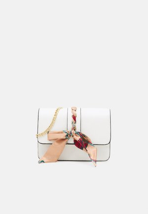 PCABBIE CROSS BODY - Across body bag - cloud dancer/gold-coloured/beige/multi