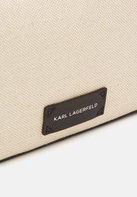 KARL LAGERFELD - SKUARE CAMERA BAG - Across body bag - natural - 4