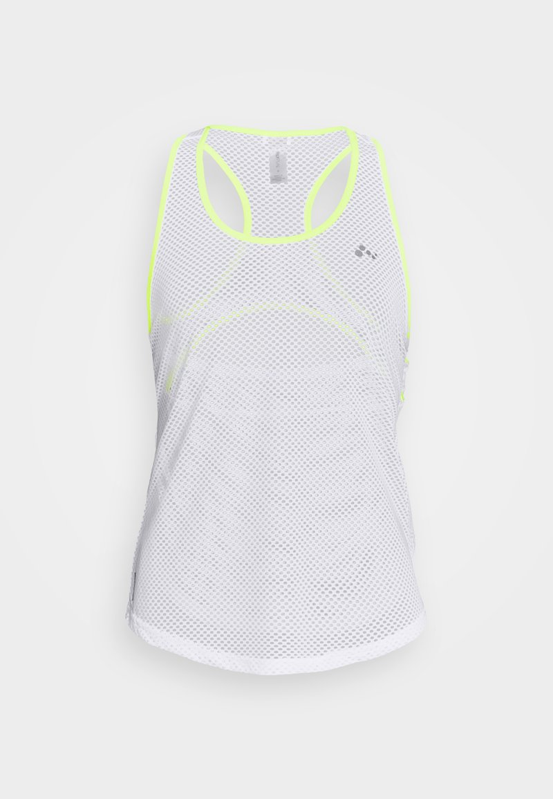 ONLY PLAY Petite - ONPJACEI TRAINING - Top - white/saftey yellow