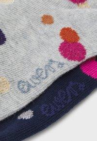 Ewers - GLITZERPUNKTE 2 PACK - Knee high socks - navy/grey - 1