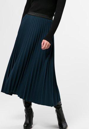 Pleated skirt - dark petrol
