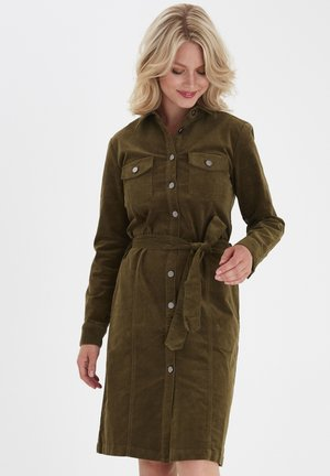 FRMACORD 3 - Shirt dress - dark olive
