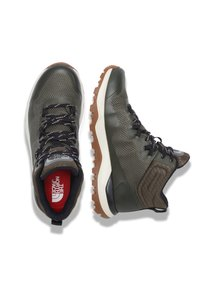 The North Face - W ACTIVIST MID FUTURELIGHT - Hiking shoes - nw taupe grn/aviator navy - 1