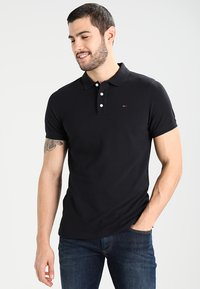 Tommy Jeans - ORIGINAL FINE SLIM FIT - Polo - tommy black - 0