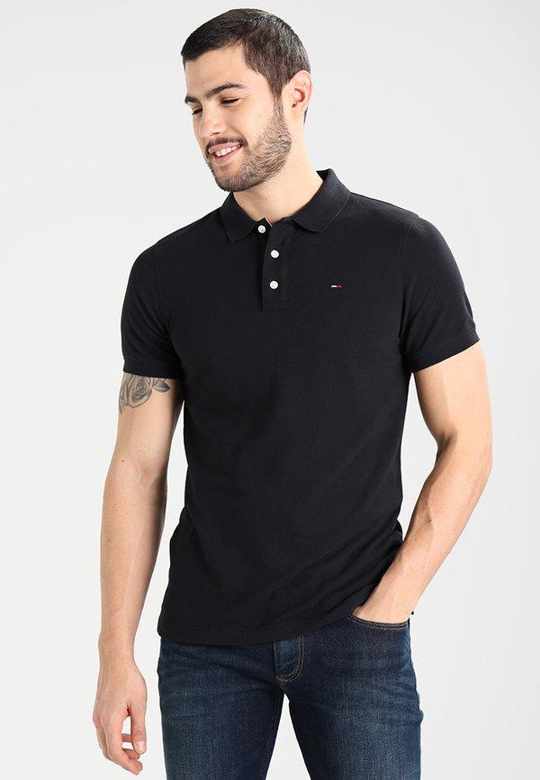 Tommy Jeans ORIGINAL FINE SLIM FIT - Koszulka polo - tommy black/czarny Odzież Męska DZFJ
