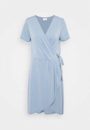 VINAYELI KNEE WRAP DRESS - Jerseykjole - ashley blue