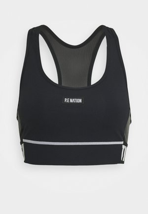 RESISTANCE SPORTS BRA - Medium support sports bra - black
