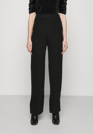 NMSALLY LOOSE PANT - Kangashousut - black