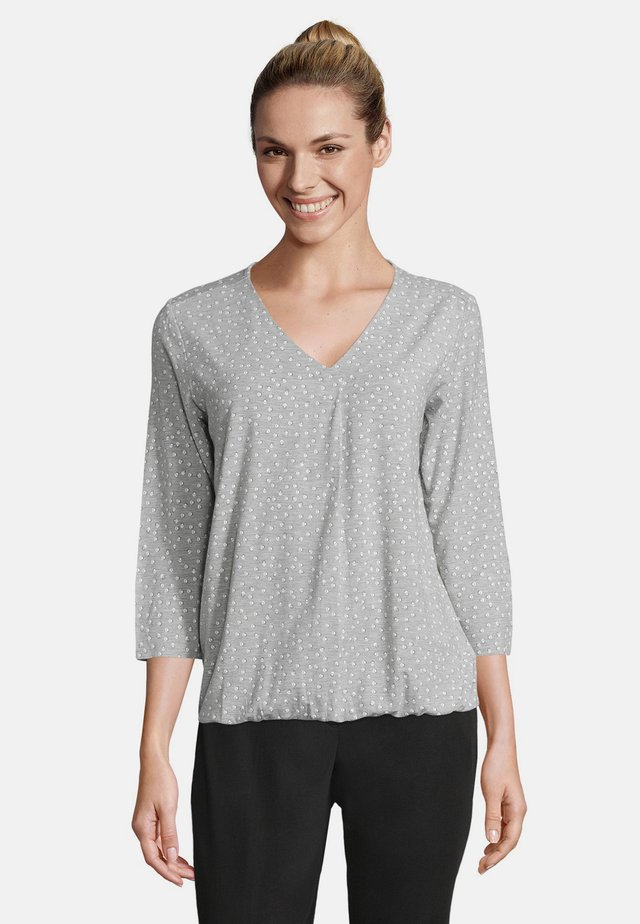 MIT 3/4 ARM - Blouse - silver/white