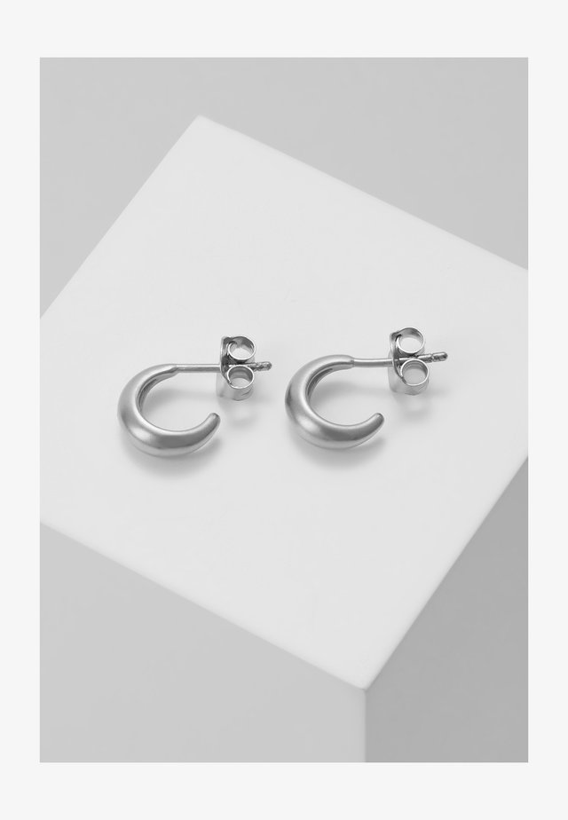 SPARROW MINI HOOPS - Pendientes - silver-coloured