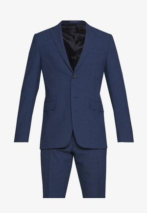 SLIM FIT MINICHECK SUIT - Puku - blue