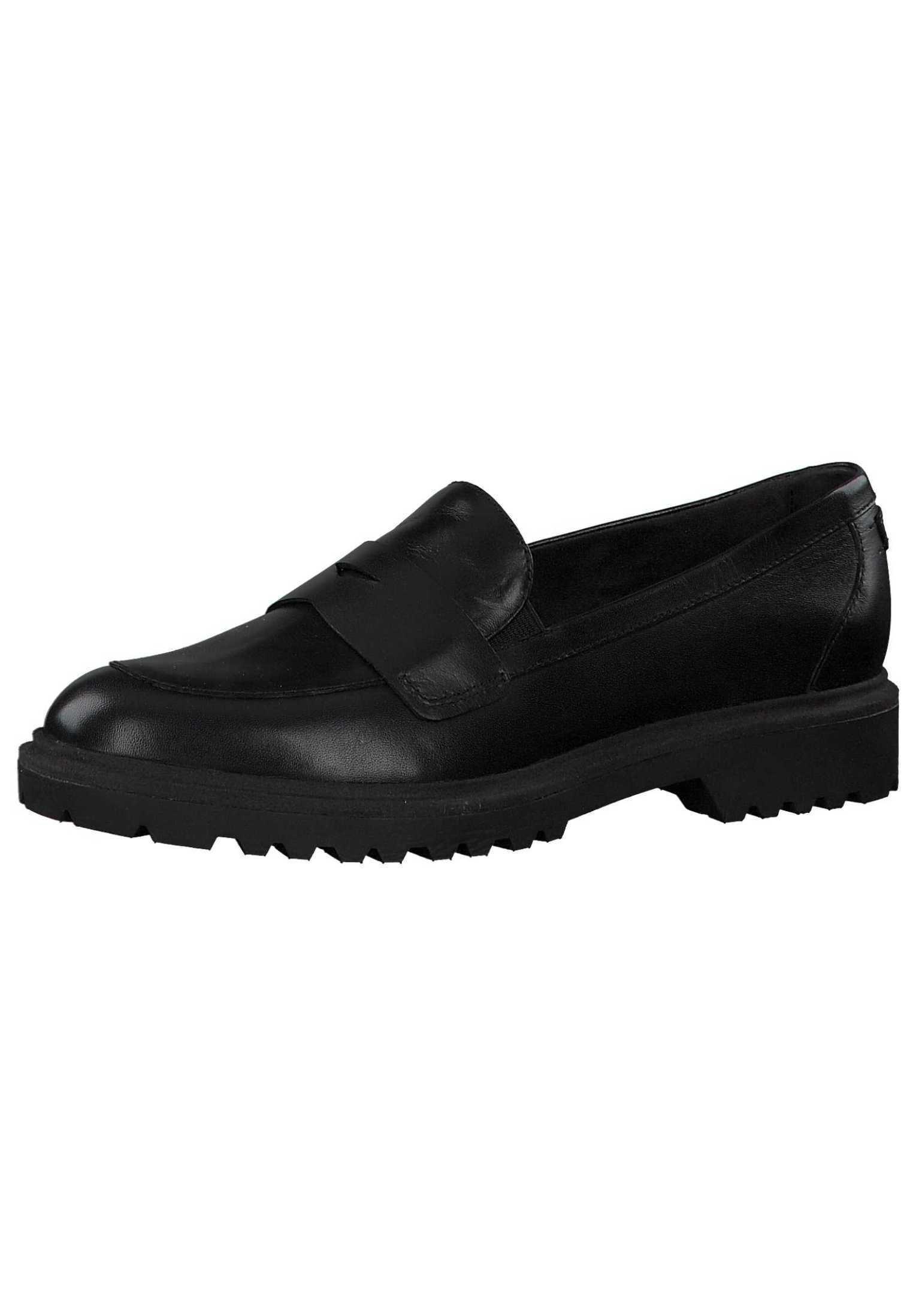 Tamaris Mokassin black leather 3/schwarz