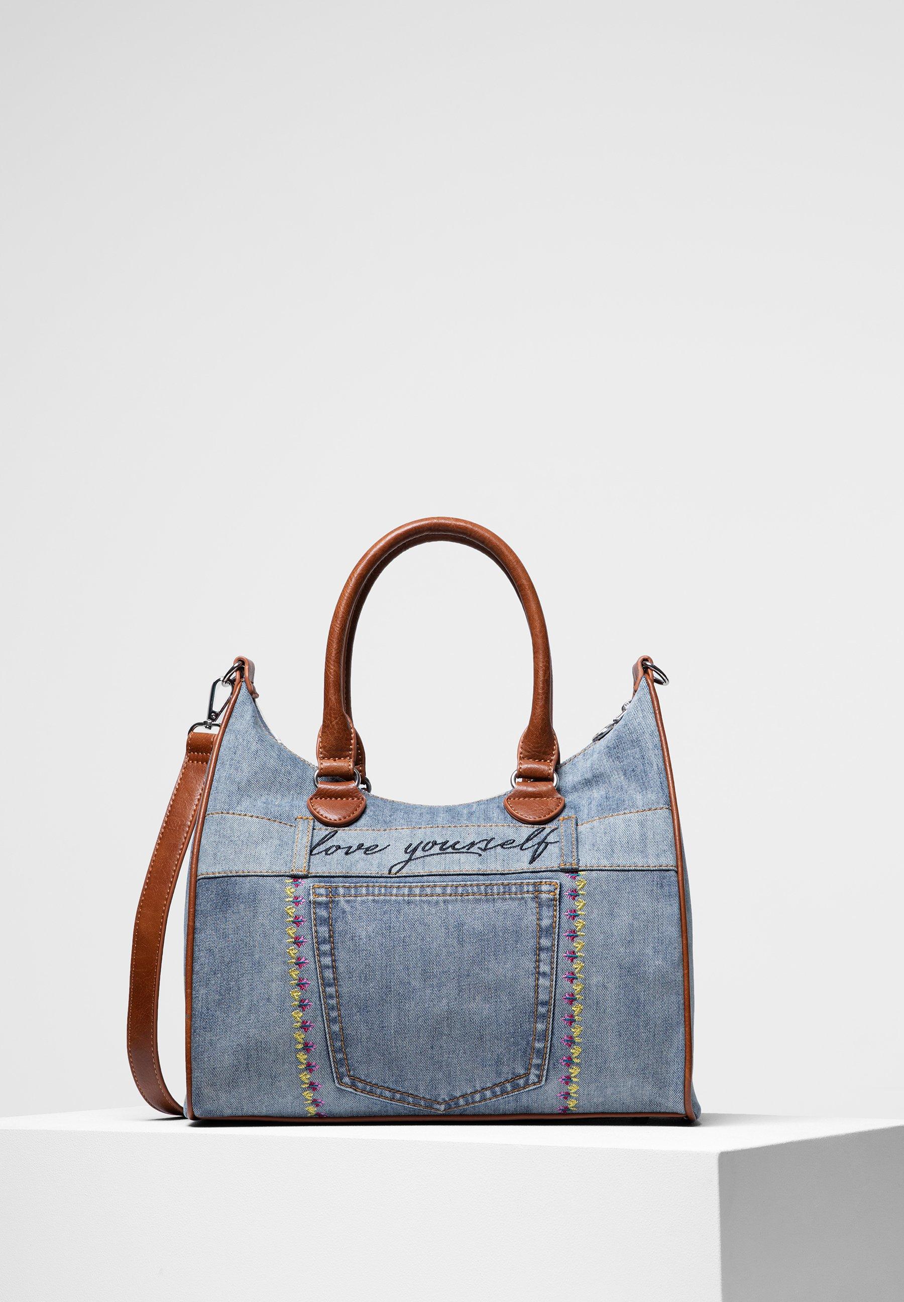 Billig og dejligt Desigual FLOWERS  Håndtasker  blue vlF2N