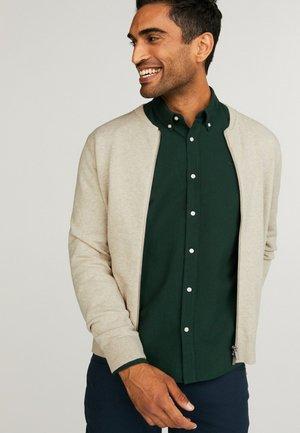 Zip-up sweatshirt - beige melange