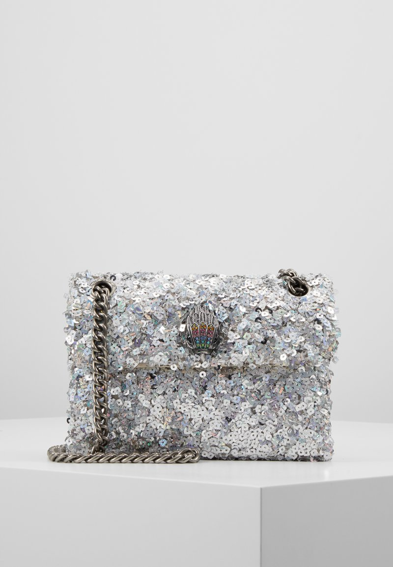Kurt Geiger London - SEQUINS MINI KENS BAG - Taška spříčným popruhem - silver com