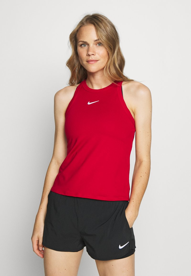 Nike Performance - DRY TANK - Sports shirt - gym red/white