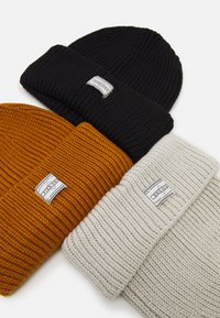 Pier One - 3 PACK UNISEX - Pipo - black/off white/brown - 2