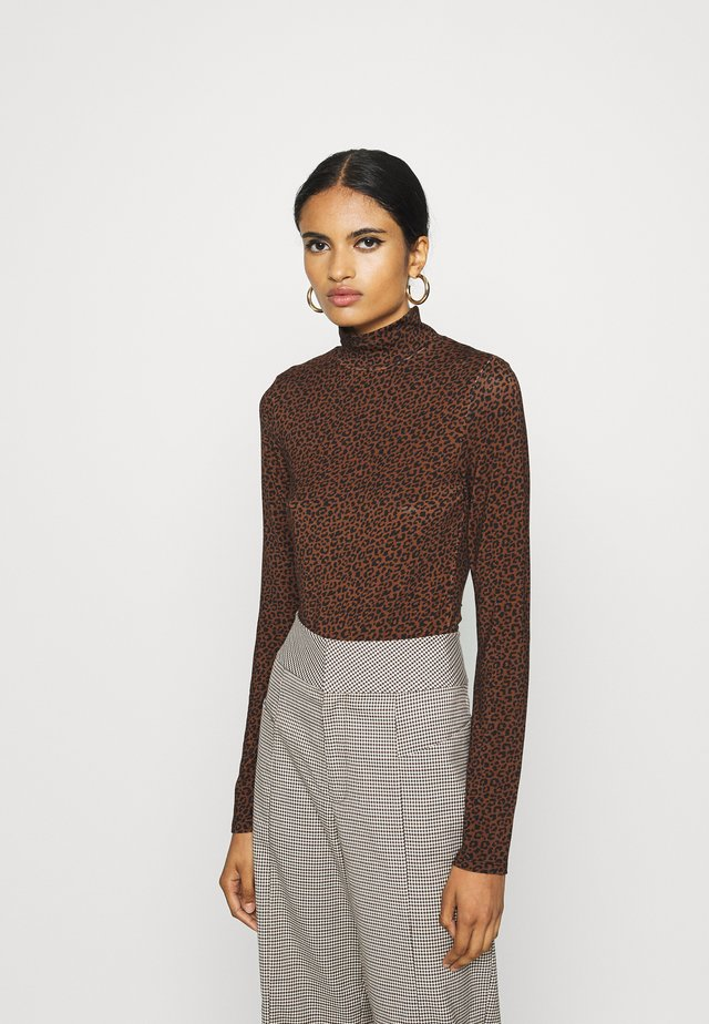 DORSIA - Longsleeve - brown/black