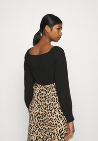 Nly by Nelly - LUXURIOUS DRAWSTRING - Long sleeved top - black - 2