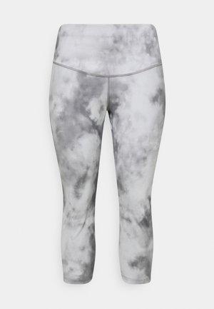 ONE CROP PLUS - Legging - smoke grey/white