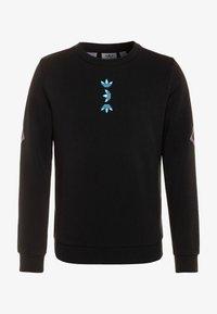 adidas Originals - LOGO CREW - Felpa - black/royal blue - 0