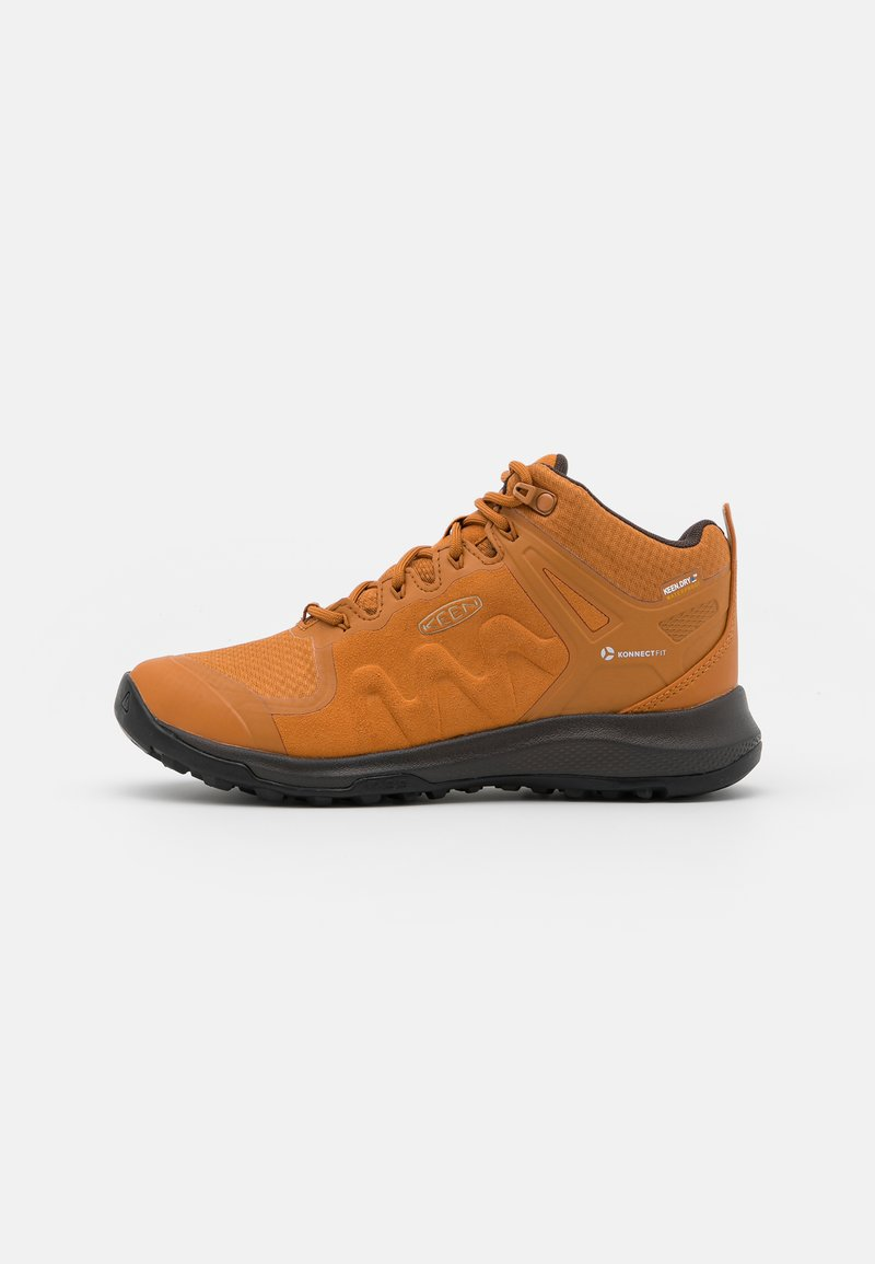 Keen - EXPLORE MID WP - Hiking shoes - pumpkin spice/mulch