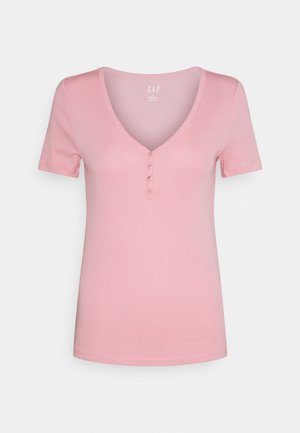 HENLEY TEE - Camiseta básica - belle pink