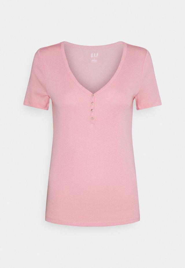HENLEY TEE - Basic T-shirt - belle pink
