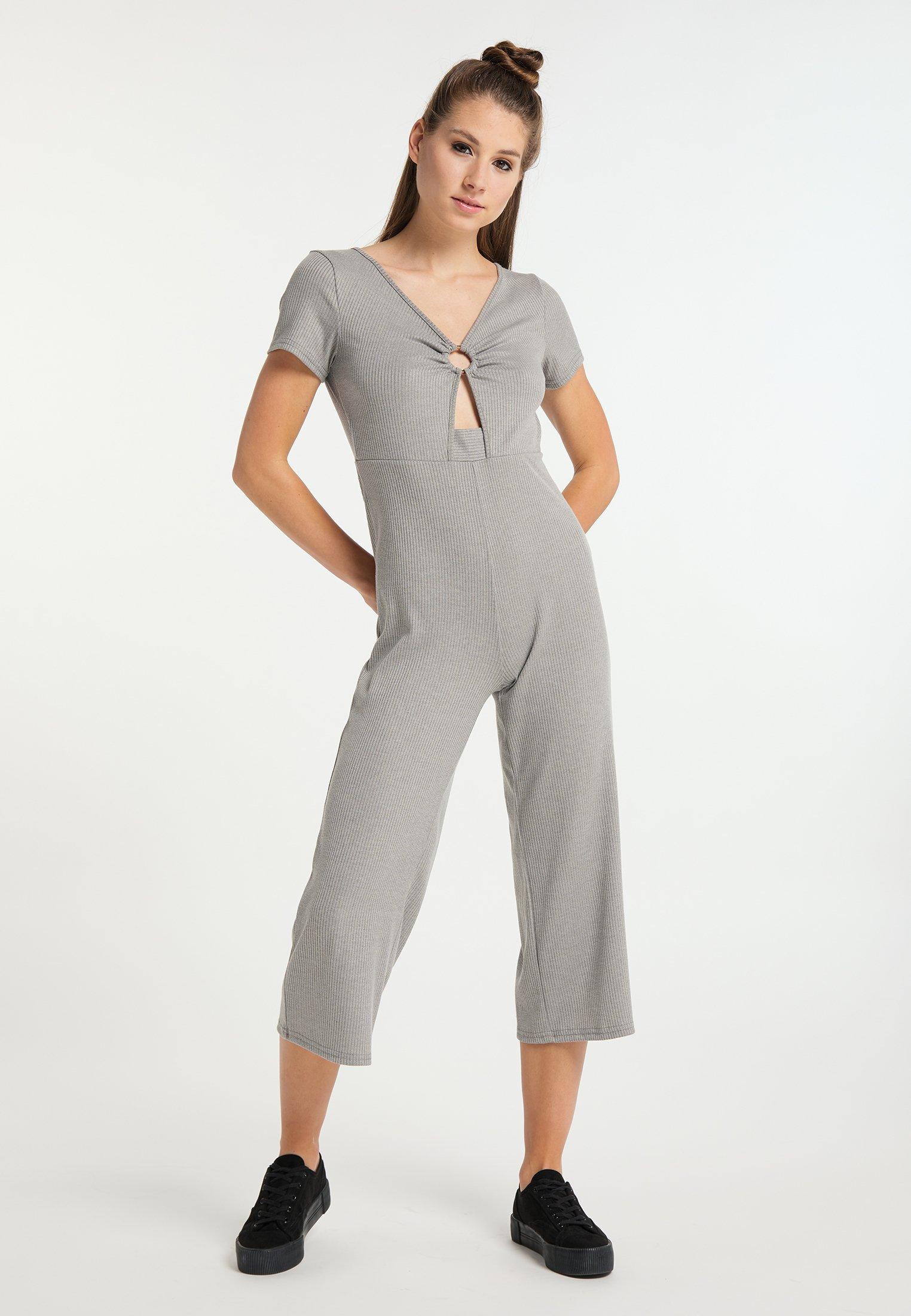 New Fashion Style Of Women's Clothing myMo Jumpsuit grau melange k5sEttpzl