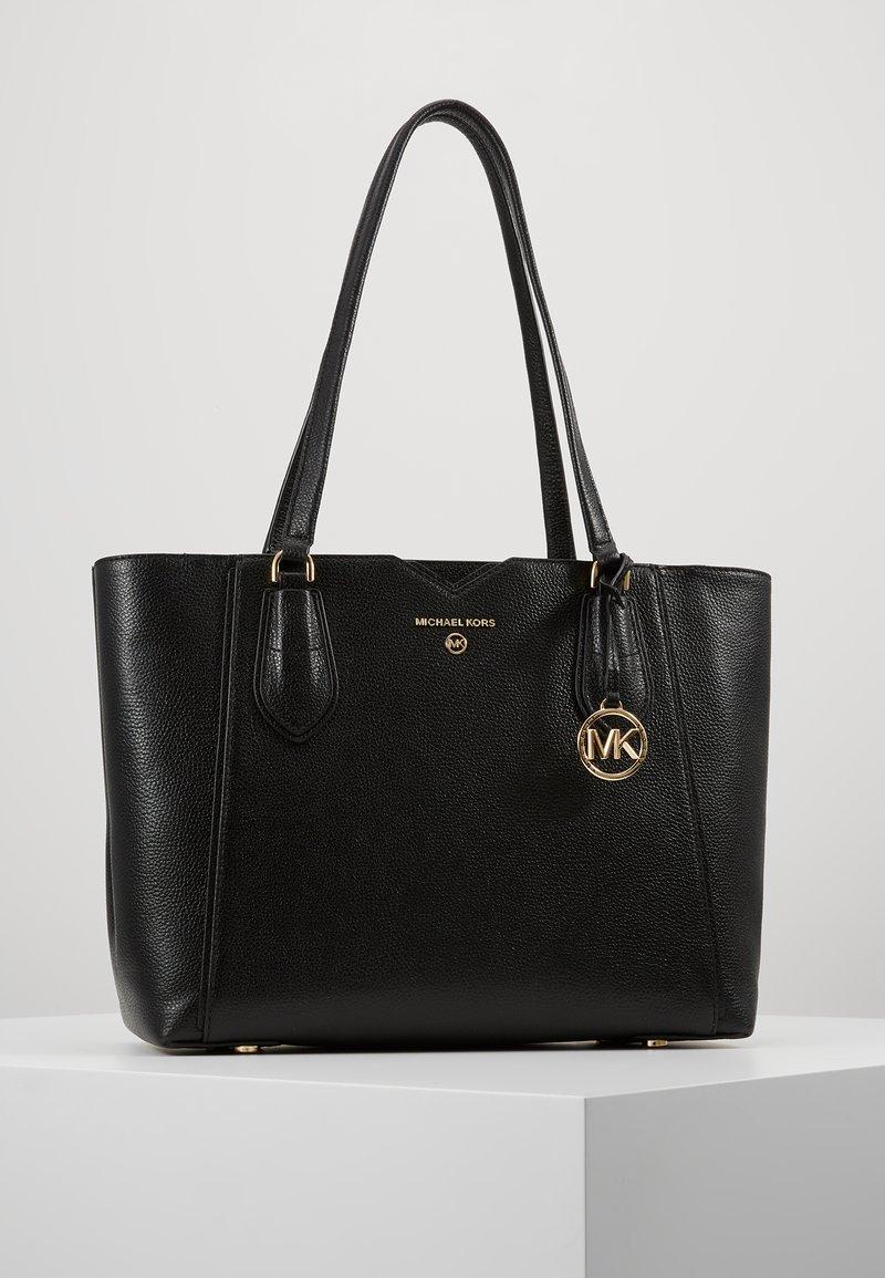 MICHAEL Michael Kors - MAE TOTE MERCER PEBBLE - Handbag - black