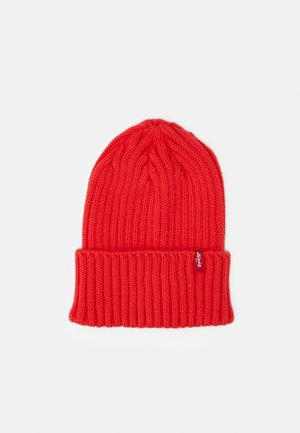 TURN UP BEANIE UNISEX - Čepice - medium red