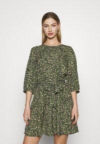 ONLY - ONLTHORA BELT DRESS - Day dress - clover/blurry - 0