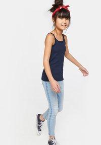 WE Fashion - MIT SPITZE - Top - dark blue - 0