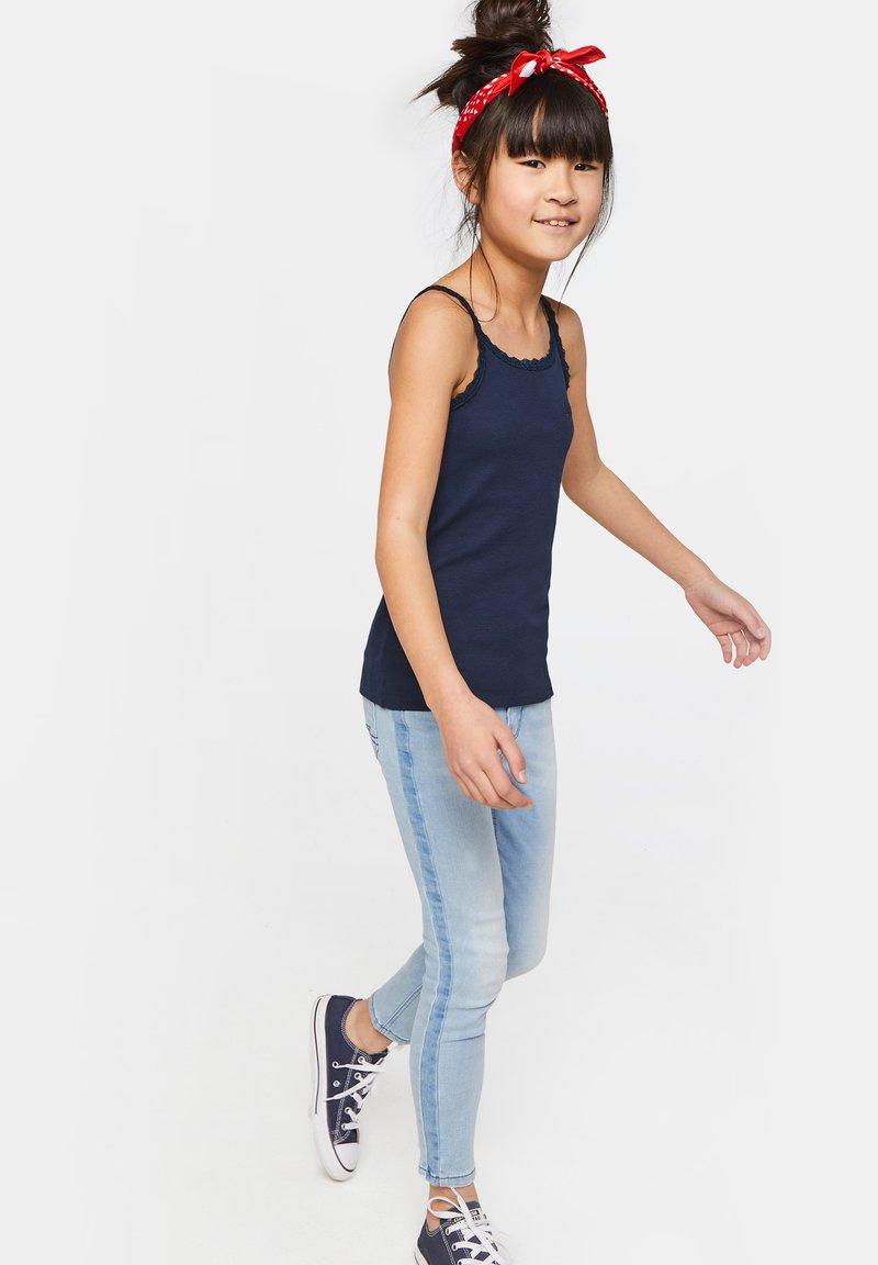 WE Fashion - MIT SPITZE - Top - dark blue