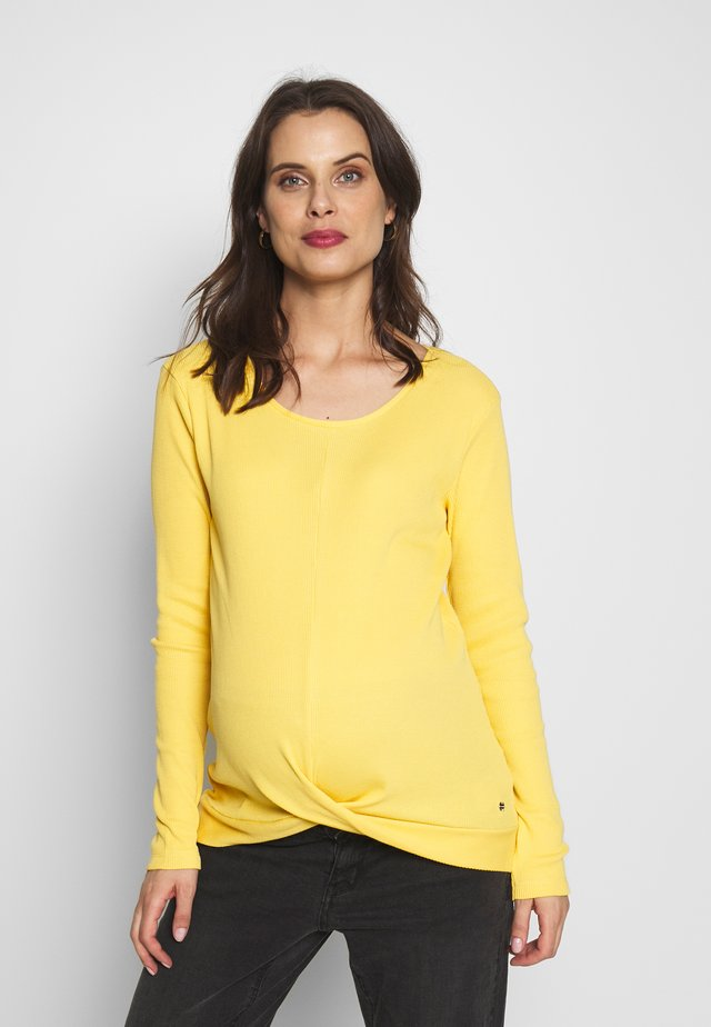 Long sleeved top - dusty yellow